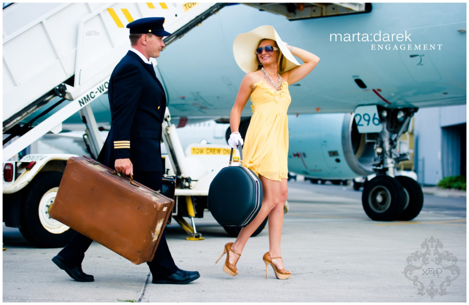 Airline inspired Engagement Photography