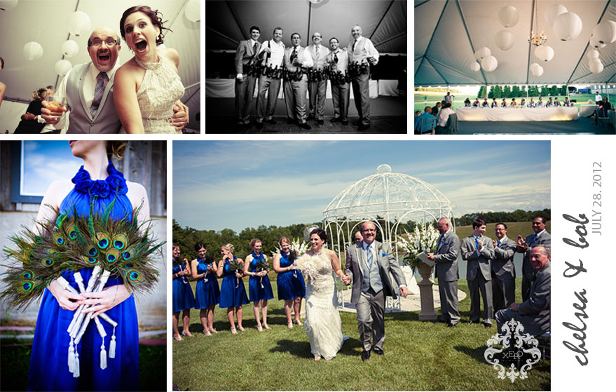 A collage of wedding photos from Jordan, Ontario