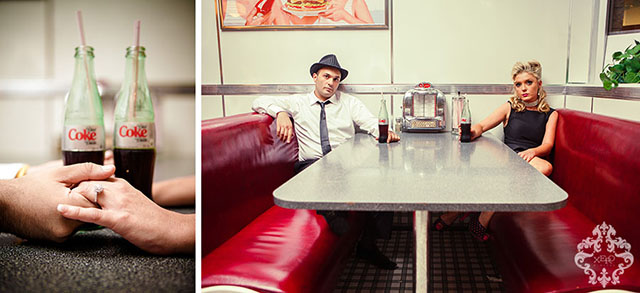 Toronto wedding photographer shoot at a diner