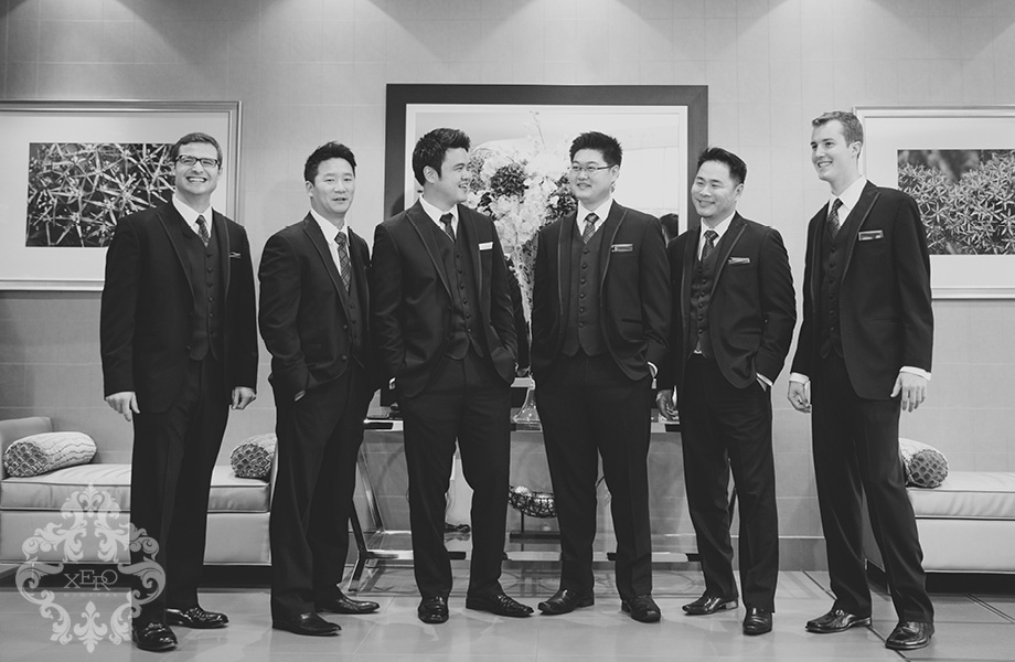 groomsmen talking
