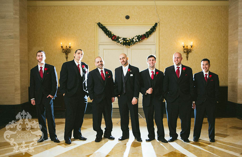 groomsmen before the reception