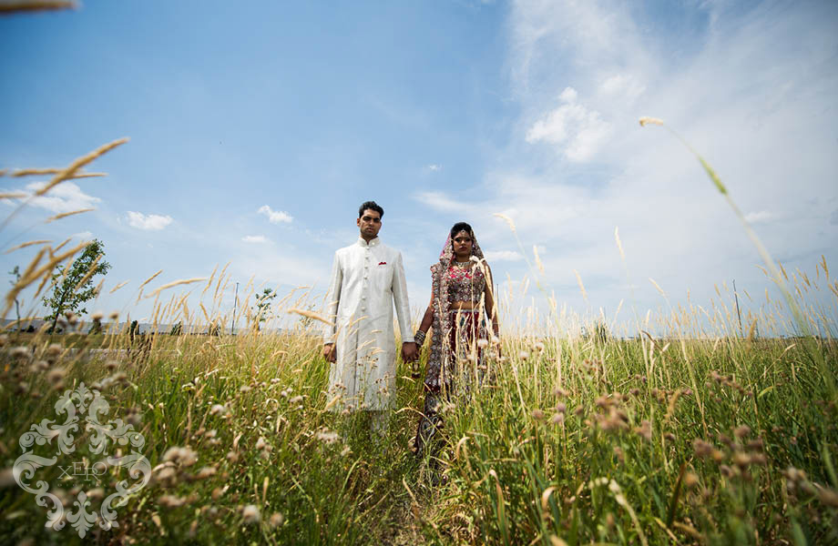 couple in tall grass