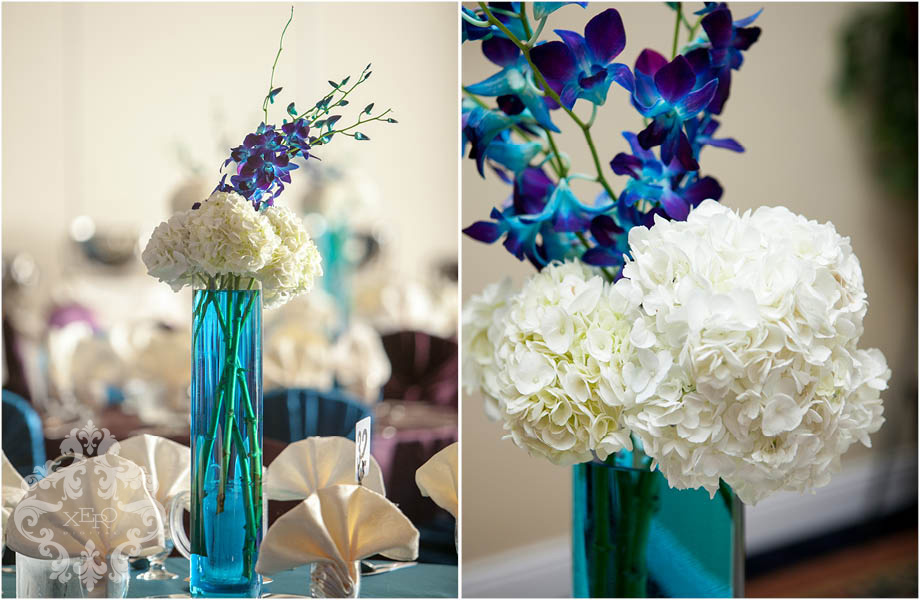 centrepieces at reception