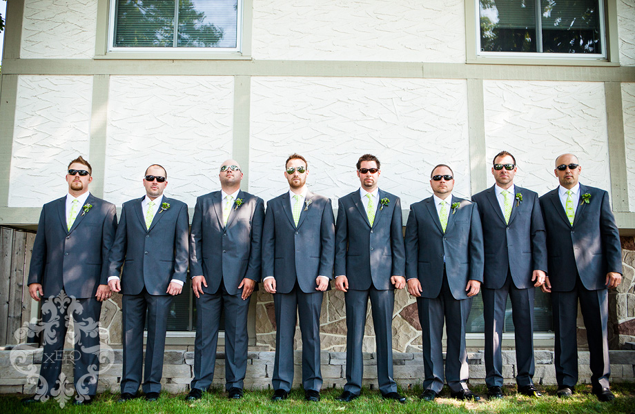 groomsmen wearing sunglasses
