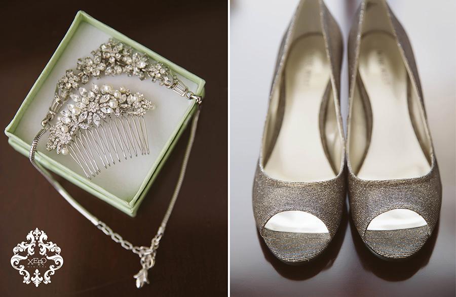 bride's sparkly details