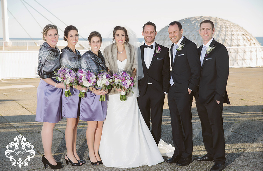 Bridal party at Atlantis Pavillions