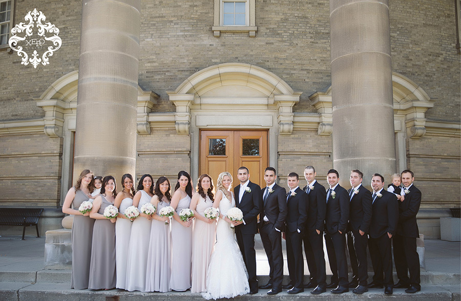 bridal party at University of Toronto