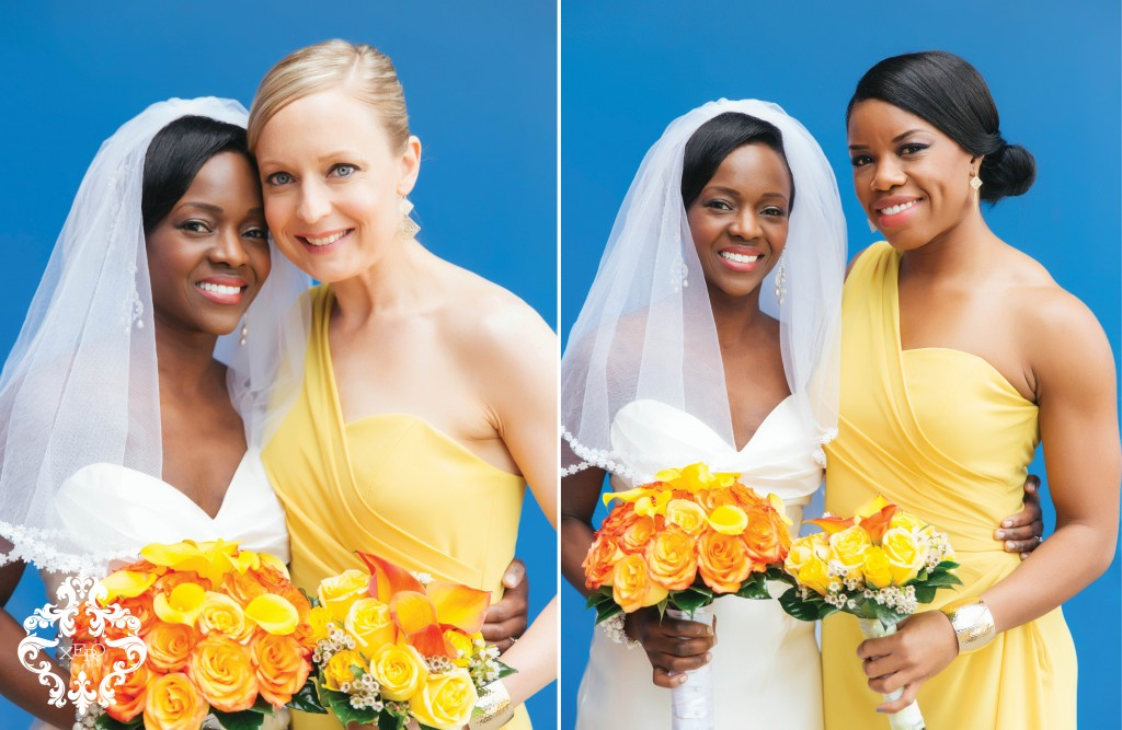 bridemaids in yellow