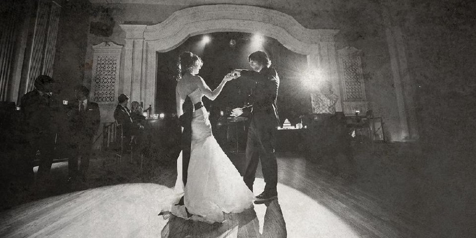 Bride and Groom Dancing at the Capitol Event Theater Toronto